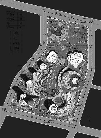 五彩文化广场总体规划平面图.