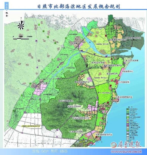而旅游主干路规划在现沿海路和青岛路间建阳光旅游大道,与青岛海滨