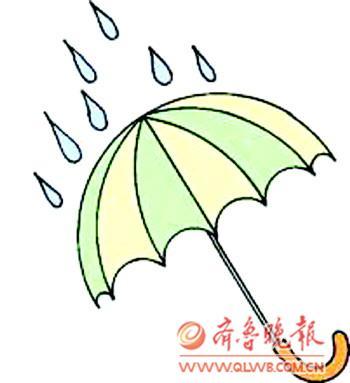 雨伞简笔画 概念雨伞
