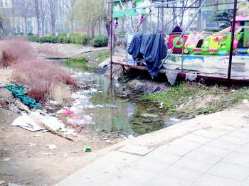 百花公园西南片区垃圾煞风景