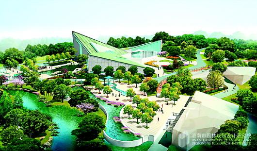 ◥泉水博物馆周边环境景观方案设计图.
